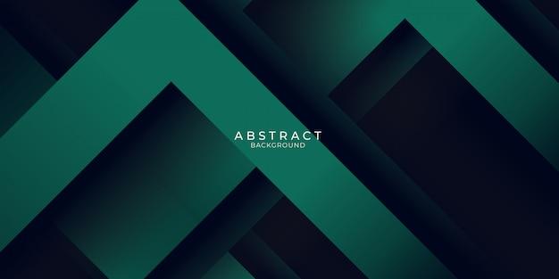 Fond vert avec lumière rayée en couches 3d. conception d'illustration vectorielle pour présentation, bannière, couverture, web, flyer, carte, affiche, papier peint
