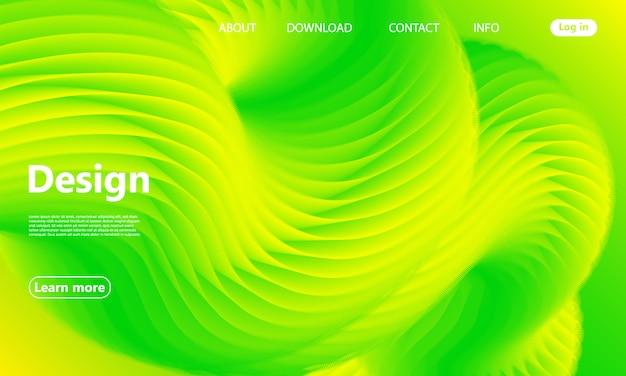 Fond vert. page de destination du site web.