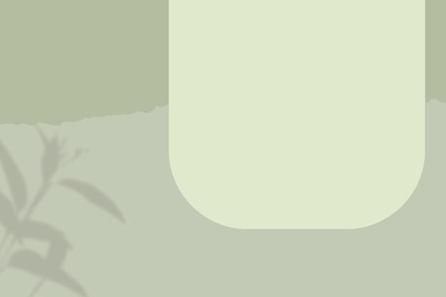 Fond vert psd/avec cadre de forme