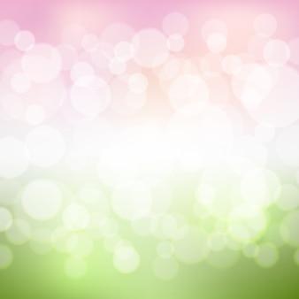 Fond vert et rose