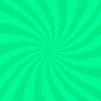 Fond vert en spirale abstrait - conception de vecteur à partir de rayons