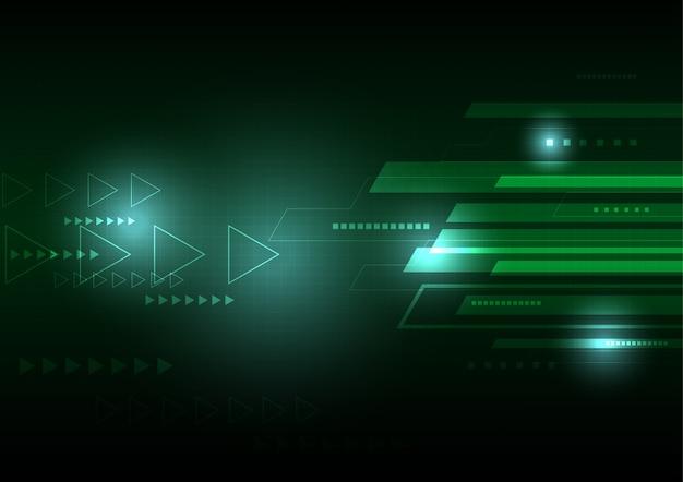 Fond vert de technologie virtuelle.