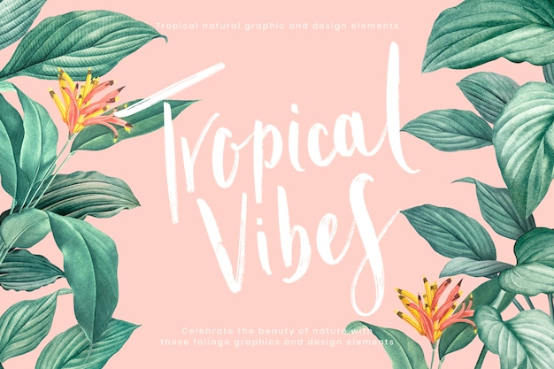 Fond vibes tropicales
