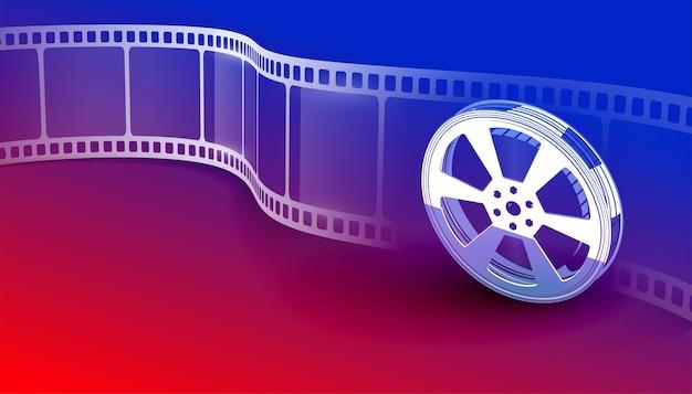 Fond vibrant de bande de film de film de cinéma