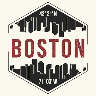 Fond de ville de boston