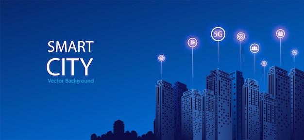 Fond de ville intelligente