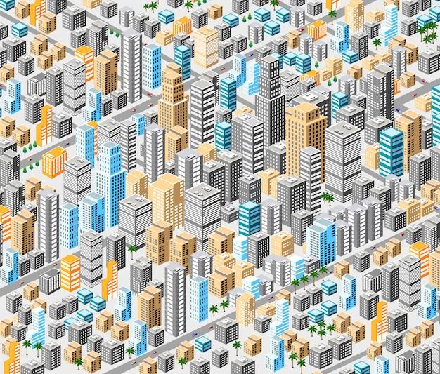 Fond de la ville isométrique