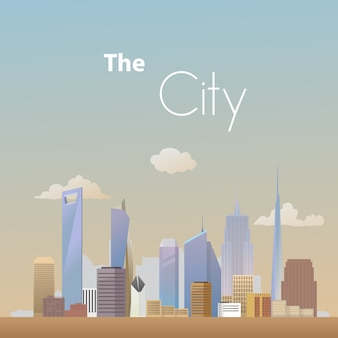Fond de ville paysage vecteur