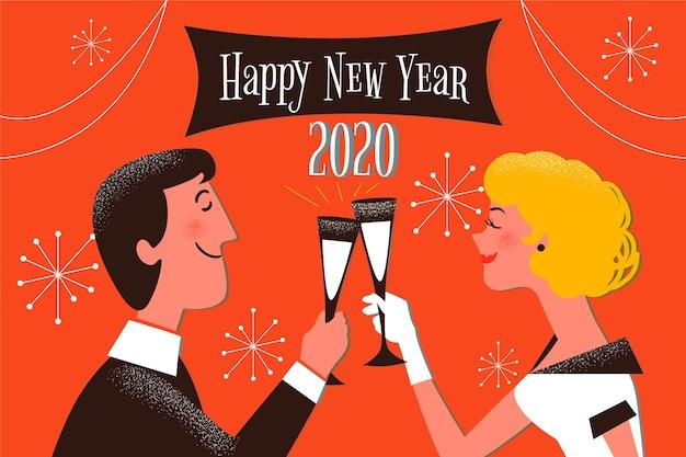 Fond vintage nouvel an 2020
