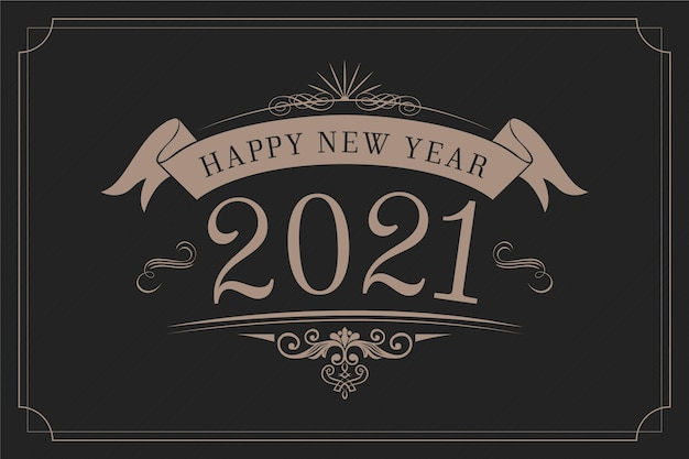 Fond vintage nouvel an 2021