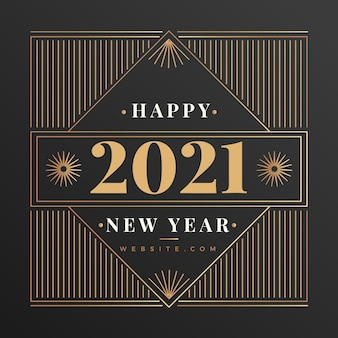 Fond vintage de nouvel an 2021