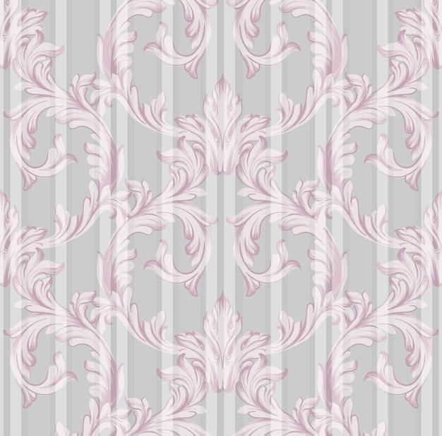 Fond vintage ornement damassé, décor rose luxueux