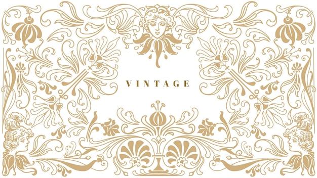 Fond vintage ornemental