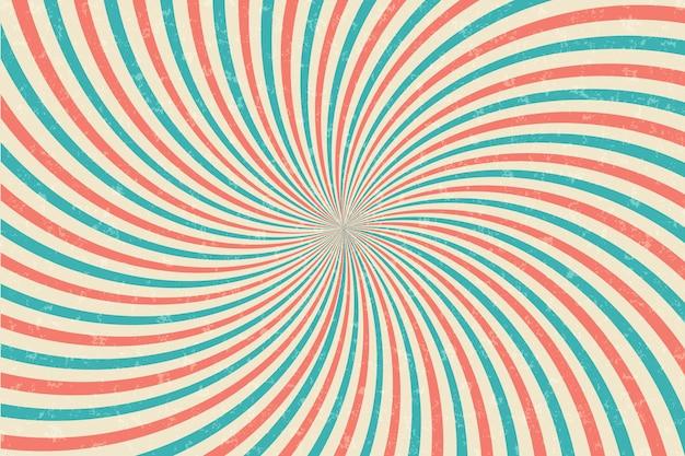 Fond vintage rayons de soleil rétro bande dessinée éclatement radial