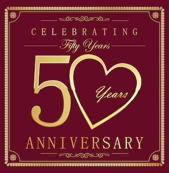 Fond vintage rétro anniversaire 50 ans