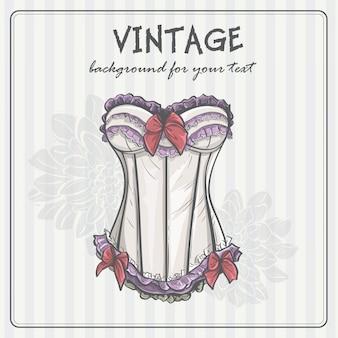 Fond vintage avec des sous-vêtements