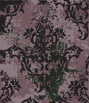 Fond vintage de style baroque impérial
