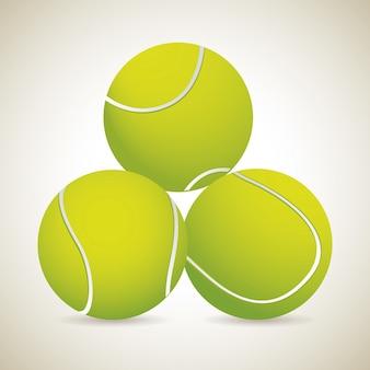 Fond vintage de trois tenis ball mover