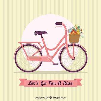 Fond vintage avec vélo et ruban