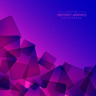 Fond violet abstrait avec des formes carrées