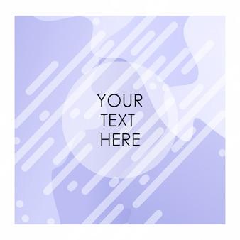 Fond violet et blanc avec un vecteur de typographie