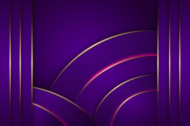 Fond violet avec décoration or