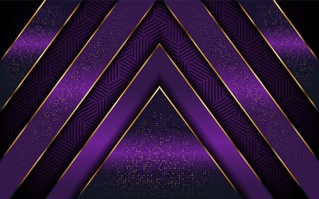 Fond violet élégant avec une forme de ligne luxueuse