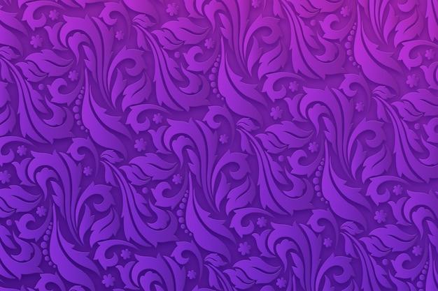 Fond violet fleurs ornementales abstraites