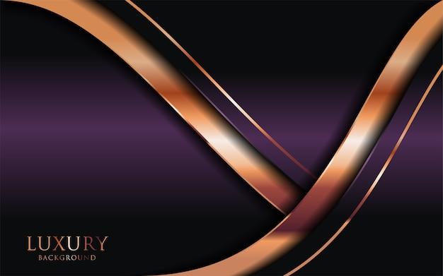 Le fond violet foncé de luxe se combine avec des lignes dorées