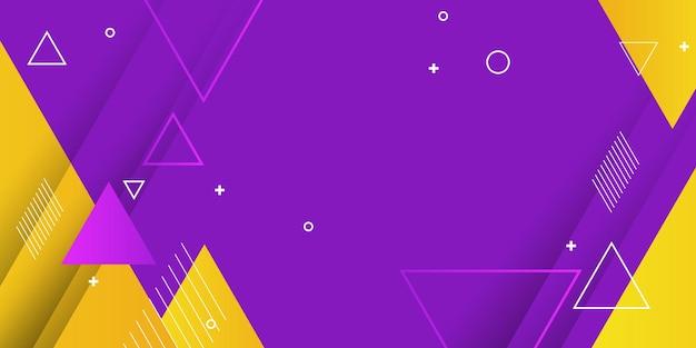 Fond violet et jaune. conception tendance géométrique abstraite.
