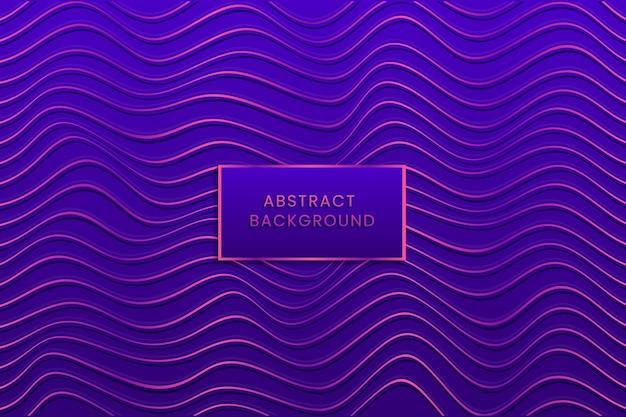 Fond violet de lignes ondulées déformées
