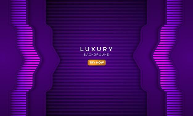 Fond violet de luxe, concept de page de destination moderne.