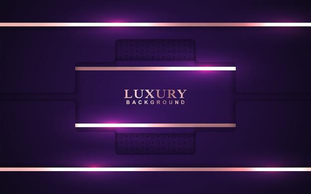 Fond violet de luxe avec décoration dorée
