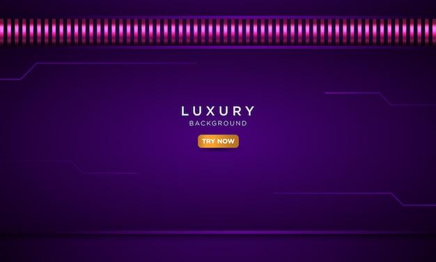 Fond violet de luxe avec un style en métal solide, concept de vecteur de page de destination moderne.