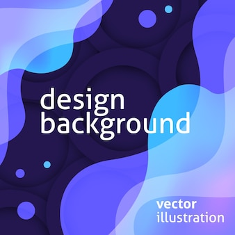 Fond violet moderne avec des formes liquides bleus
