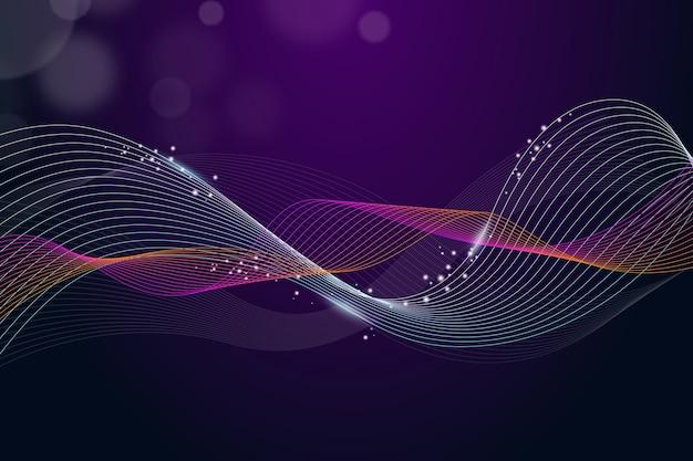 Fond violet ondulé