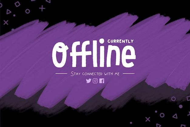 Fond violet pour bannière de streaming hors ligne pour twitch