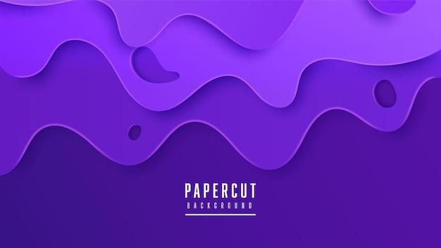 Fond violet de style papercut abstrait moderne