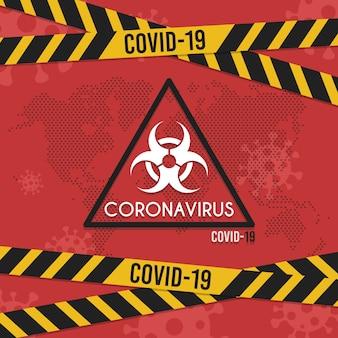 Fond de virus de bannière. infographie médicale de coronavirus. infection par un virus modifiable.