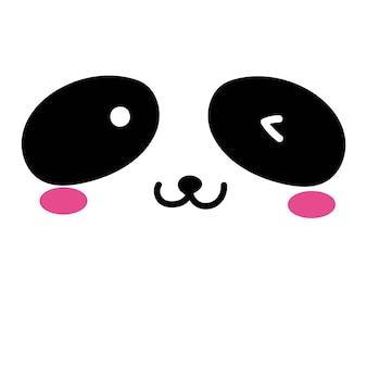 Fond de visage mignon panda.