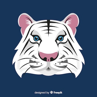 Fond de visage de tigre