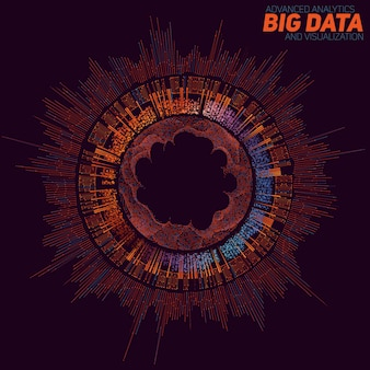 Fond de visualisation de big data