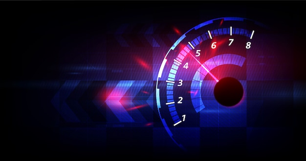 Fond de vitesse de course, compteur de vitesse