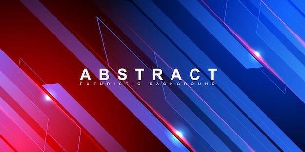 Fond de vitesse technologie abstraite bande bleue