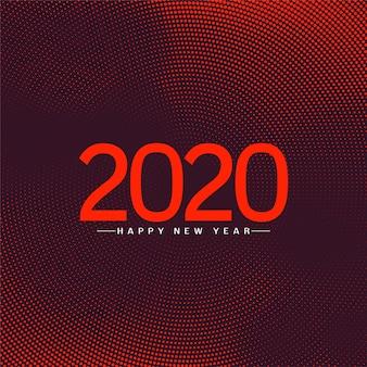 Fond de voeux de célébration de bonne année 2020