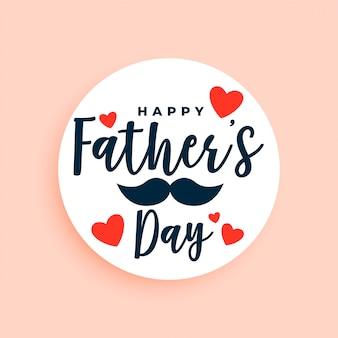 Fond de voeux élégant fête des pères heureux
