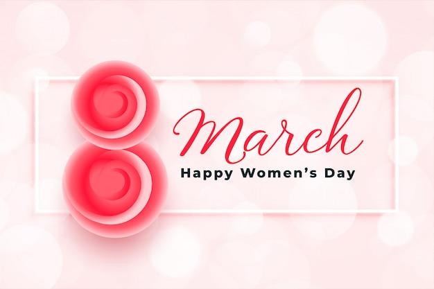 Fond de voeux élégant joyeux jour des femmes