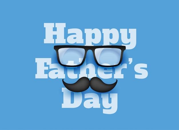 Fond de voeux fête des pères heureux bleu
