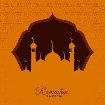 Fond de voeux saisonnier ramadan kareem traditionnel