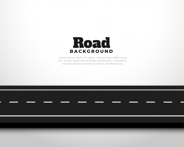 Fond de voie de route route asphalte horizontal droit